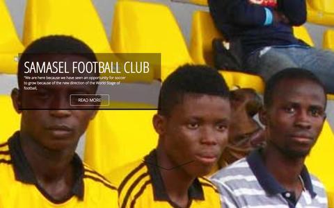 Screenshot of Home Page samaselfc.com - Samasel Football Club | Home - captured Sept. 30, 2014