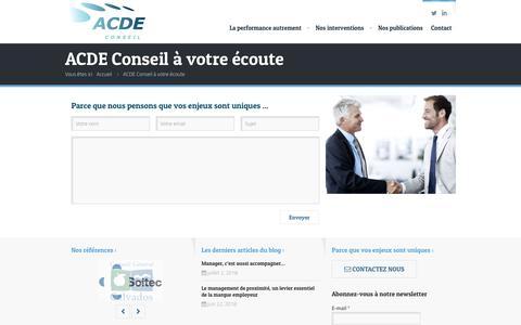 Screenshot of Contact Page acde-conseil.com - ACDE Conseil - Contactez-nous - captured July 28, 2018