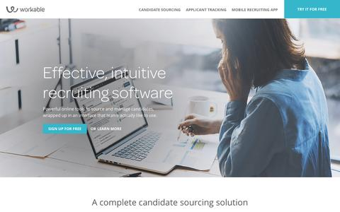 Screenshot of Landing Page workable.com - Workable: Simple Recruitment Software - captured Feb. 22, 2017
