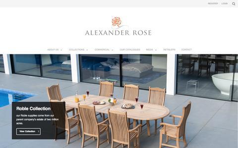 Luxury Handmade Garden Furniture UK - Manufacturers/Suppliers - Alexander Rose