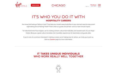 Screenshot of Jobs Page virginhotels.com - Careers at Virgin Hotels Chicago - captured Nov. 18, 2018