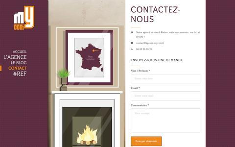 Screenshot of Contact Page agence-mycom.fr - Contactez-nous - Agence MyCOM Agence MyCOM - captured May 29, 2017