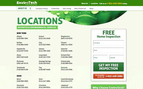 Screenshot of Locations Page naturallythebest.com - Our Locations | Local Pest Control & Environmental Services | EnviroTech - captured Oct. 3, 2014