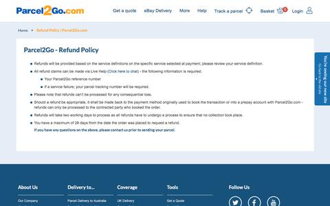 Refund Policy | Parcel2Go.com