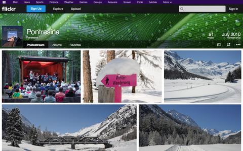 Screenshot of Flickr Page flickr.com - Flickr: Pontresina's Photostream - captured Nov. 5, 2014