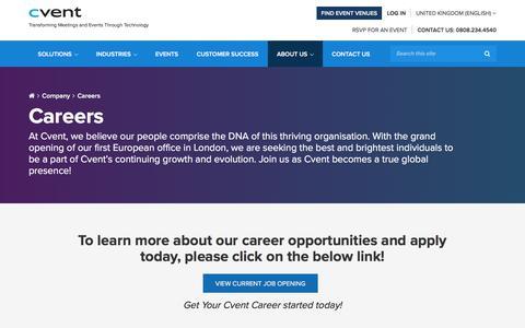 Screenshot of Jobs Page cvent.com - Careers at Cvent, Current Openings | Cvent - captured Oct. 21, 2017