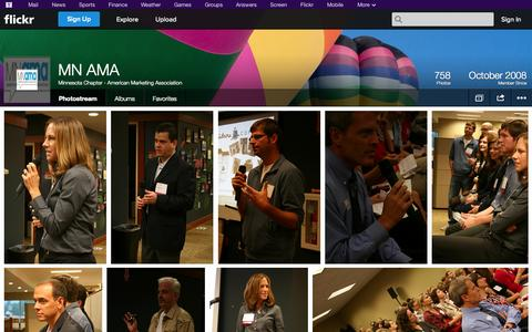 Screenshot of Flickr Page flickr.com - Flickr: Minnesota Chapter - American Marketing Association's Photostream - captured Oct. 27, 2014