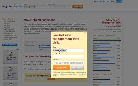 Screenshot of Team Page workcircle.co.uk - Management jobs | Workcircle UK - captured Sept. 29, 2017