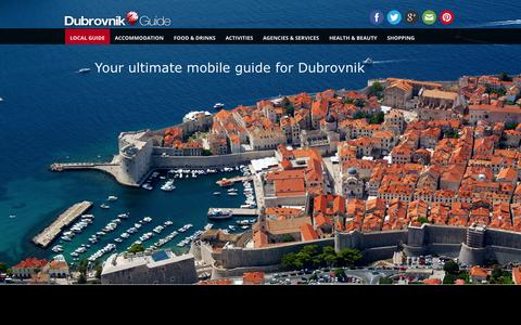 Screenshot of Home Page dubrovnikguideapp.com - Dubrovnik Guide | Reach the Best - captured Oct. 5, 2014