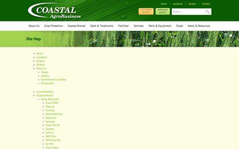 Screenshot of Site Map Page coastalagro.com - Site Map   Coastal AgroBusiness - captured Oct. 3, 2014