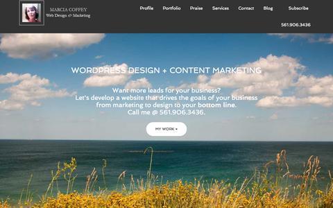 Screenshot of Home Page jmgroup.net - J&M Group WordPress Design | Content Marketing | Palm Beach County – Genesis WordPress design, content marketing and Bigcommerce development. - captured Sept. 20, 2015