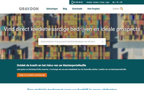 Screenshot of Home Page graydon.be - Graydon BE - captured Nov. 13, 2015