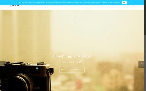Screenshot of Home Page odett.nl - Op zoek naar een mooie en betaalbare website? Odett.nl - captured Feb. 21, 2016