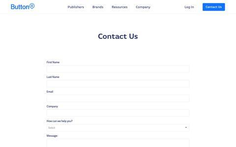 Screenshot of Contact Page usebutton.com - Button | Contact Us - captured Nov. 2, 2019