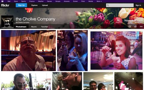 Screenshot of Flickr Page flickr.com - Flickr: the Cholive Company's Photostream - captured Oct. 25, 2014