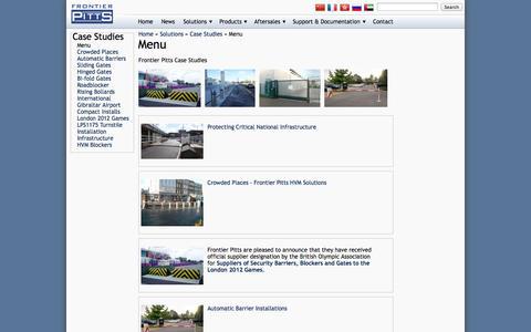 Screenshot of Menu Page frontierpitts.com - Menu - captured Oct. 10, 2014