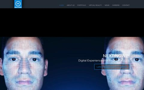 Screenshot of Home Page nextnowagency.com - NEXT/NOW Digital Experiential Marketing Agency and Studio - Chicago - captured Nov. 12, 2017