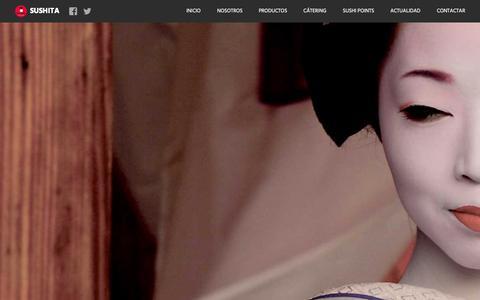 Screenshot of Home Page sushita.com - Sushita Catering y platos preparados de Cocina Internacional - captured Aug. 2, 2015