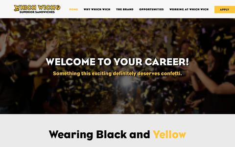 Screenshot of Jobs Page whichwich.com - Home - Which Wich - captured Sept. 28, 2018