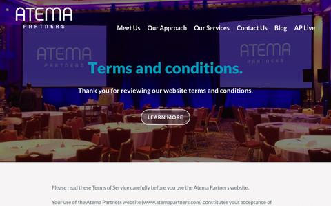 Screenshot of Terms Page atemapartners.com - Website terms and conditions - Atema Partners - captured Oct. 9, 2017