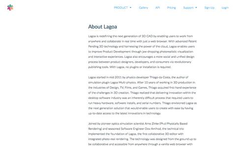 Screenshot of About Page Contact Page lagoa.com - About   LAGOA - captured Oct. 10, 2014