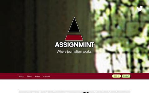 Screenshot of Home Page assignmint.com - Work smarter on Assignmint - captured Oct. 4, 2014