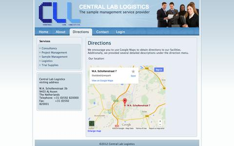 Screenshot of Maps & Directions Page cl-logistics.com - Directions - captured Oct. 2, 2014