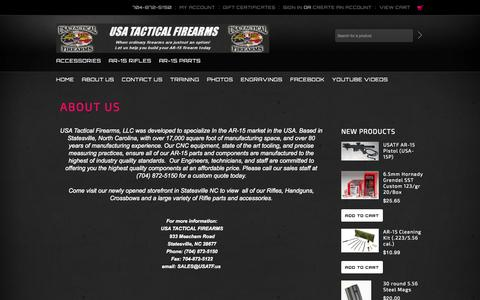 Screenshot of About Page usatf.us - USA Tactical Firearms About Us page - captured Oct. 26, 2014