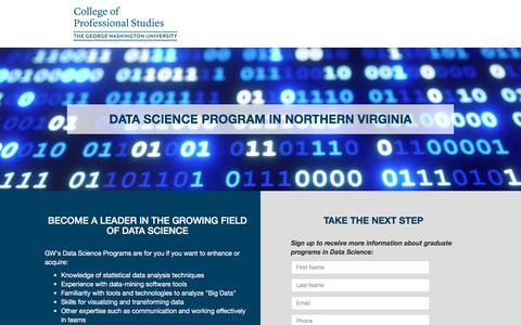 Screenshot of Landing Page gwu.edu - GW CPS - captured Sept. 18, 2018