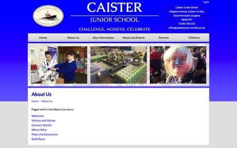 Screenshot of About Page caisterjunior.co.uk - About Us | Caister Junior School - captured March 11, 2016
