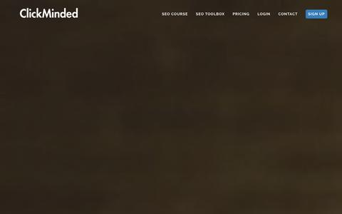Screenshot of Home Page clickminded.com - SEO Training: The ClickMinded SEO Course - captured Dec. 11, 2015