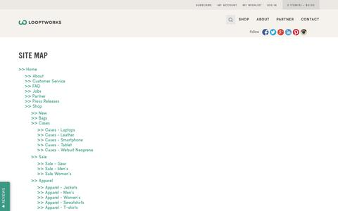 Screenshot of Site Map Page looptworks.com - Site Map - HTML - captured Sept. 22, 2014