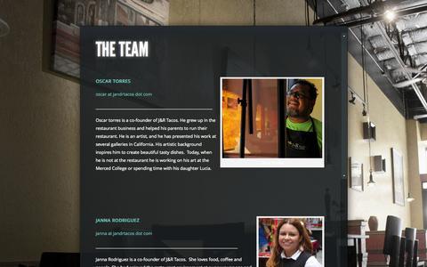 Screenshot of Team Page jandrtacos.com - The Team | J&R Tacos - captured Oct. 3, 2014