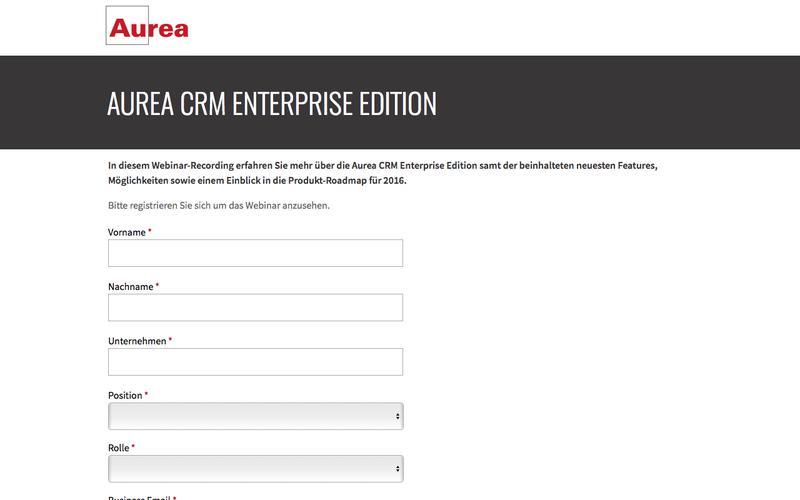 Webinar Recording: Aurea CRM Enterprise | Aurea