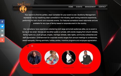 Screenshot of Team Page soulfunny.com - Soulfunny Management - captured Oct. 23, 2017