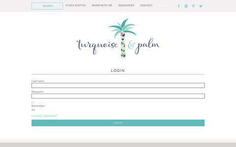Screenshot of Login Page turquoiseandpalm.com - Login - Turquoise & Palm Stock Gallery - captured Nov. 20, 2016