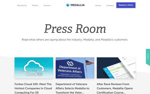 Press Room And Media Contacts | Medallia