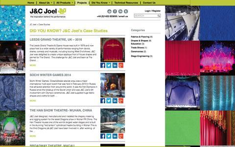 Screenshot of Case Studies Page jcjoel.com - Case Studies - JC Joel - captured July 20, 2016