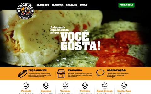 Screenshot of Home Page blackdog.com.br - Black Dog - captured June 1, 2017