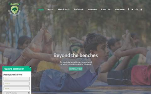 Screenshot of Home Page greenwoodhigh.edu.in - Schools in Bangalore | International School in Bangalore - Greenwood High - captured April 23, 2018
