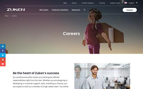 Screenshot of Jobs Page zuken.com - Careers Archive - Zuken EN - captured Oct. 11, 2019