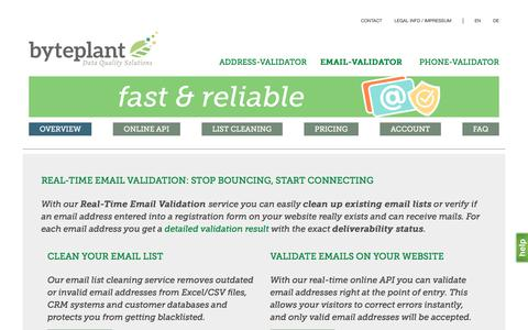 Screenshot of Home Page email-validator.net - Free Email Validation|Email List Cleaning|Email Verification Online API|Email Check - captured June 24, 2017