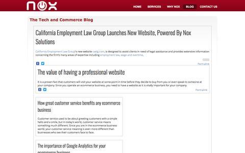 Screenshot of Blog noxenterprisecommerce.com - The Tech and Commerce Blog - captured April 5, 2017