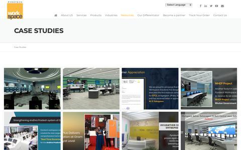 Screenshot of Case Studies Page pyrotechworkspace.com - Case Studies | Pyrotech Workspace - captured Nov. 11, 2018