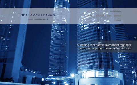 Screenshot of Home Page cogsvillegroup.com - The Cogsville Group, LLC - captured Feb. 15, 2016