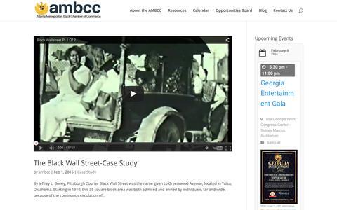Screenshot of Case Studies Page ambcc.org - Case Study | Atlanta Metropolitan Black Chamber of Commerce - captured Feb. 6, 2016
