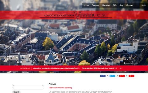 Screenshot of Press Page vissercs.nl - News Archives - Advocatenkantoor Visser c.s. : Advocatenkantoor Visser c.s. - captured Oct. 27, 2014