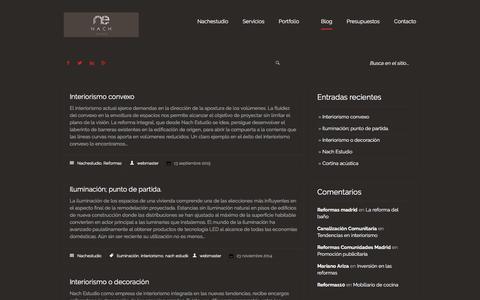 Screenshot of Blog nachestudio.com - Blog de reformas   NACHESTUDIO - captured March 27, 2016