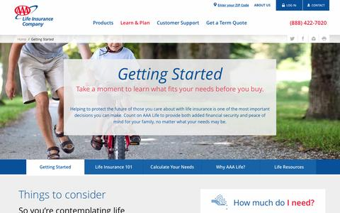 Getting Started - AAA Life Insurance Company
