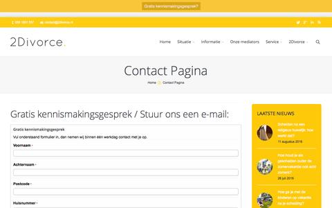Screenshot of Contact Page 2divorce.nl - Scheiden met begrip | Contact Pagina - Scheiden met begrip - captured Aug. 11, 2016